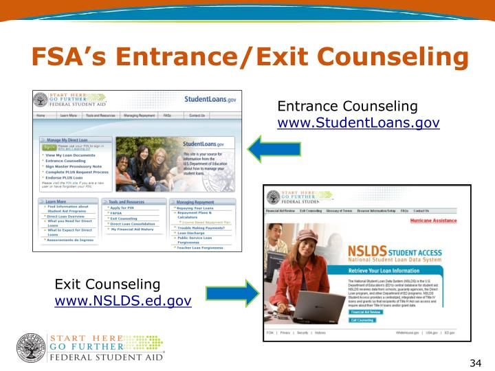 FSA's Entrance/Exit Counseling