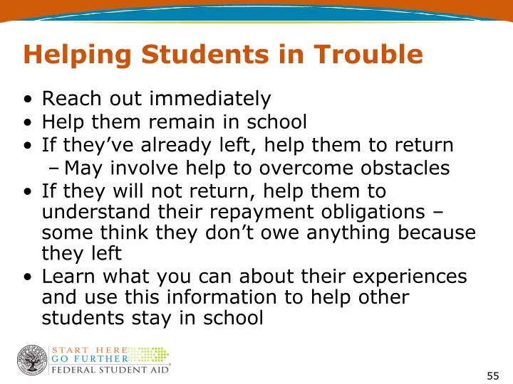 Helping Students in Trouble