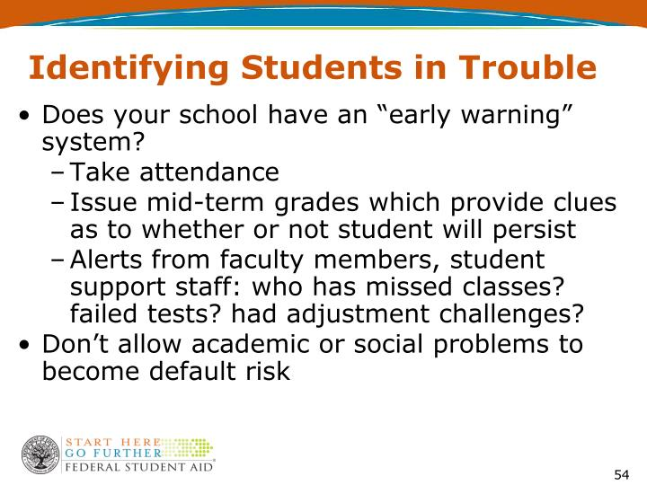 Identifying Students in Trouble