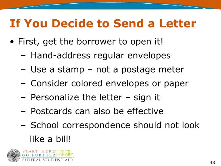 If You Decide to Send a Letter