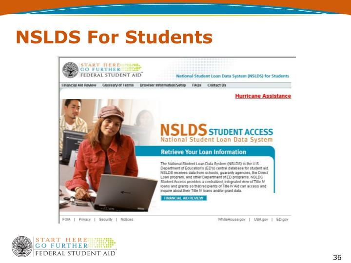 NSLDS For Students