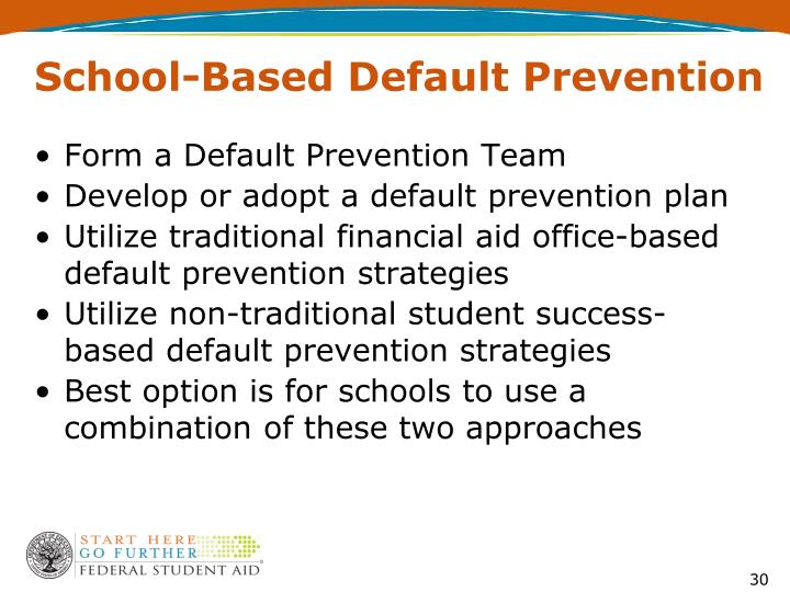 School-Based Default Prevention