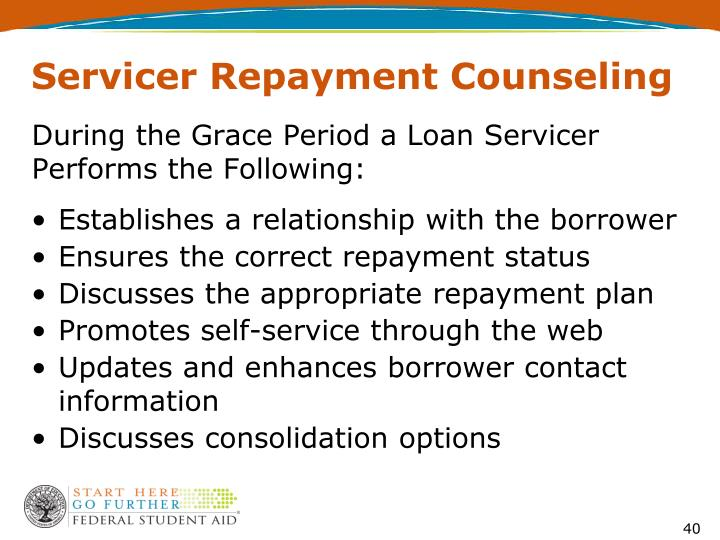 Servicer Repayment Counseling