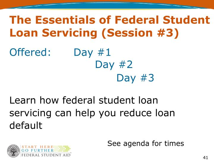 The Essentials of Federal Student Loan Servicing (Session #3)