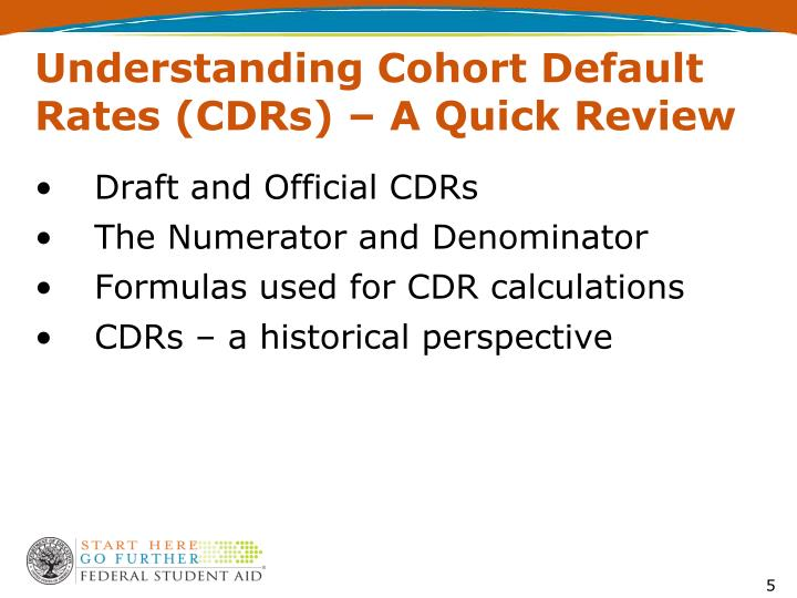 Understanding Cohort Default Rates (CDRs) – A Quick Review