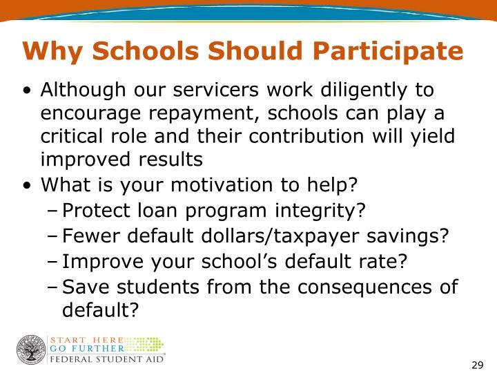 Why Schools Should Participate