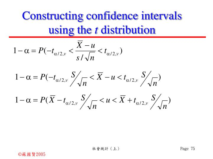 Constructing confidence intervals using the
