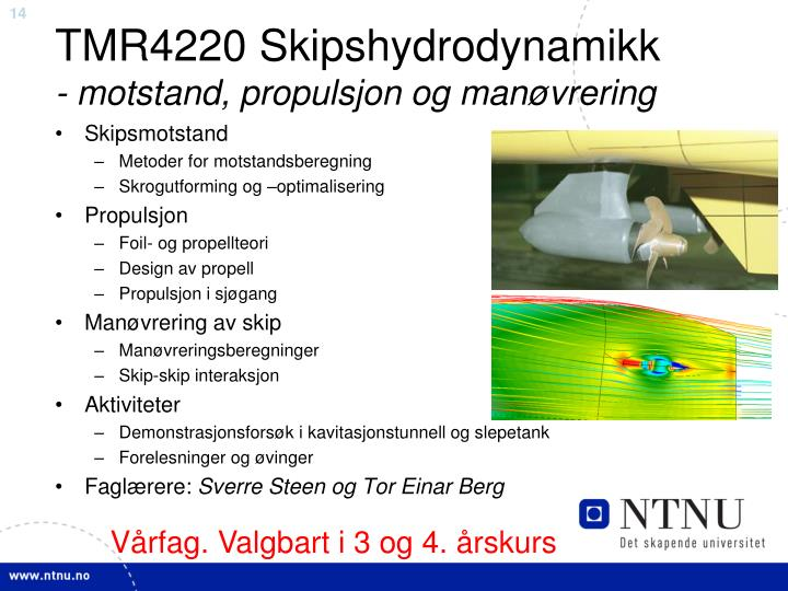 TMR4220 Skipshydrodynamikk