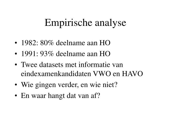 Empirische analyse