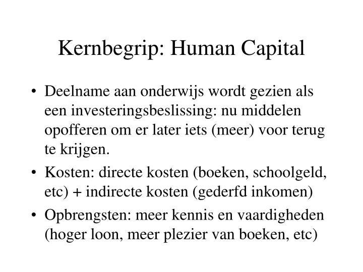 Kernbegrip: Human Capital