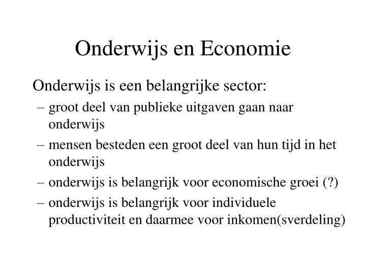 Onderwijs en Economie