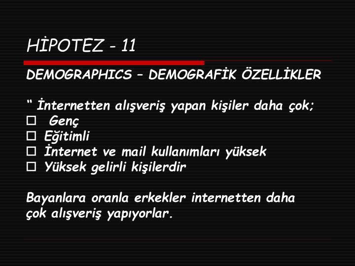 HİPOTEZ - 11