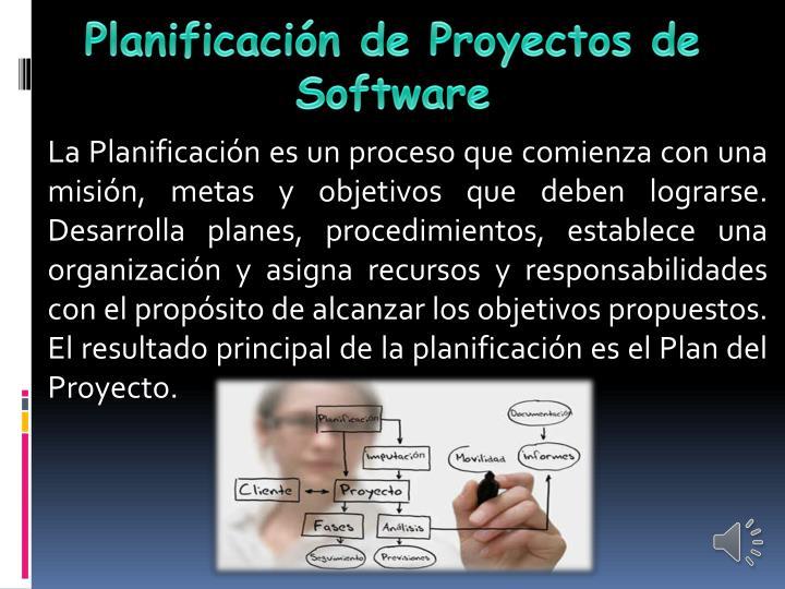 Planificación de Proyectos de Software