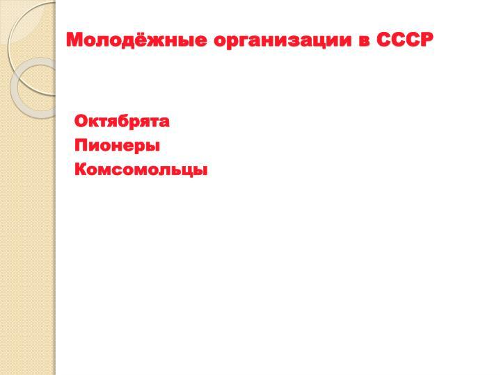 Молодёжные организации в СССР