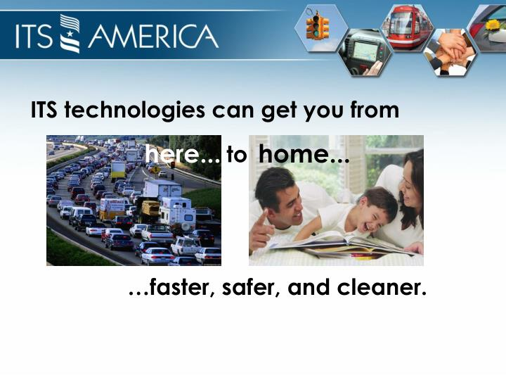 ITS technologies can get you from