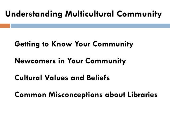 Understanding Multicultural Community