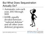 but what does sequestration actually do