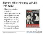 tierney miller hinojosa wia bill hr 4227