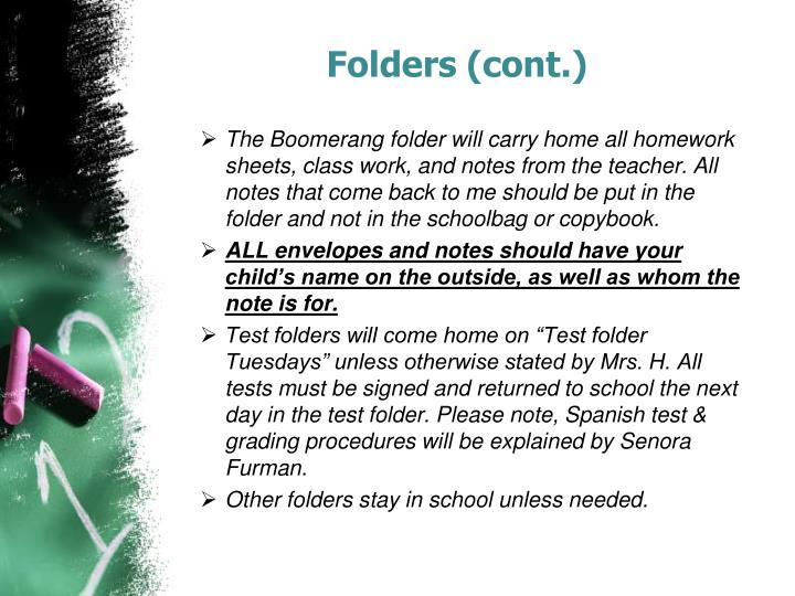 Folders (cont.)