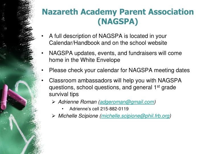 Nazareth Academy Parent Association (NAGSPA)