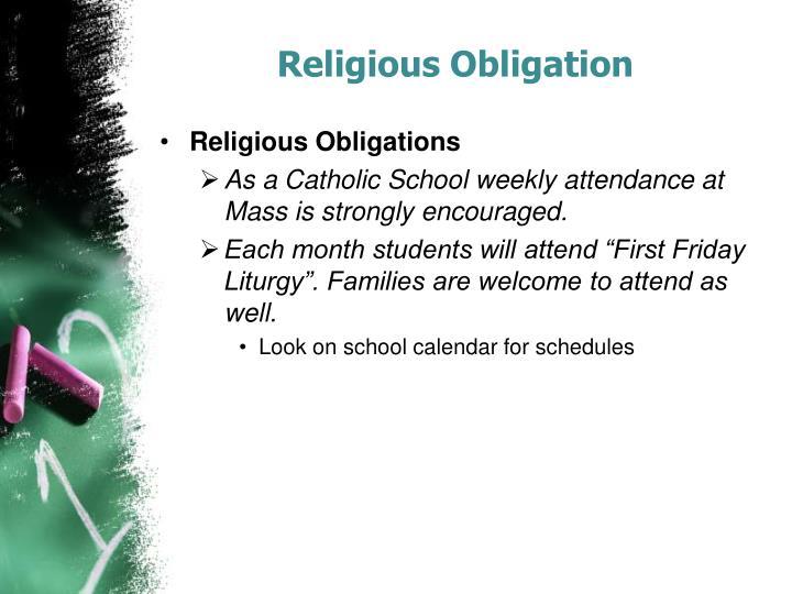 Religious Obligation