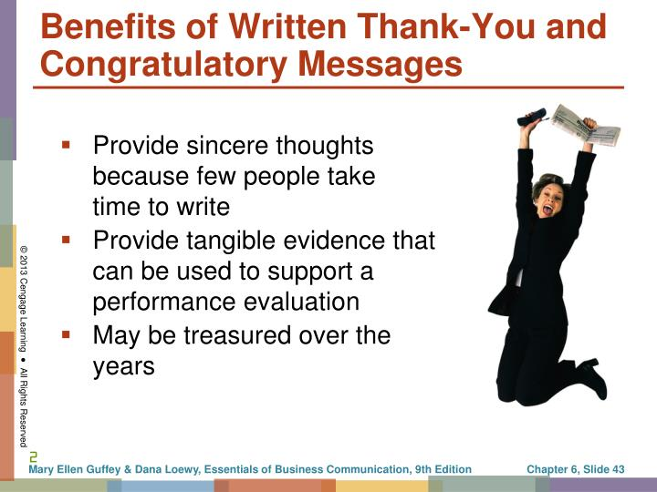 Benefits of Written Thank-You and Congratulatory Messages