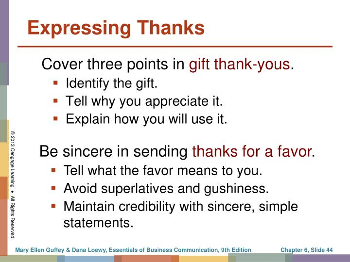 Expressing Thanks