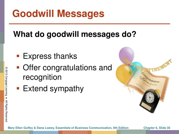 Goodwill Messages