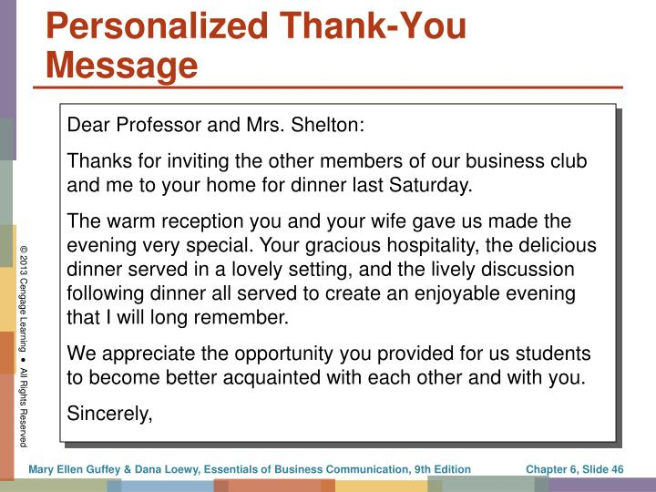 Personalized Thank-You Message