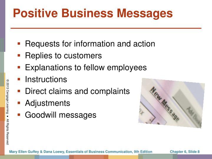 Positive Business Messages