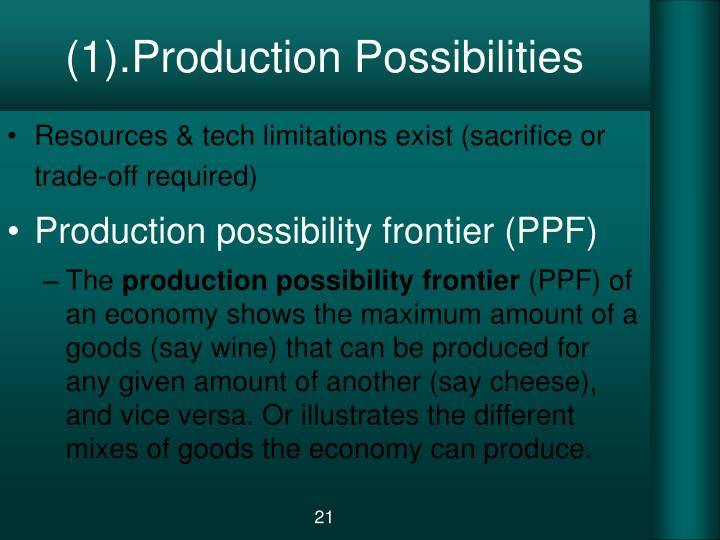 (1).Production Possibilities