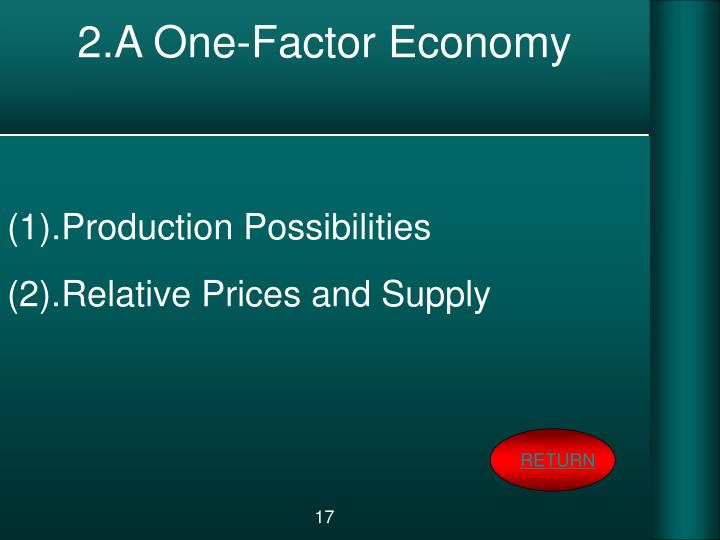 2.A One-Factor Economy