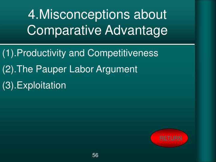 4.Misconceptions about Comparative Advantage