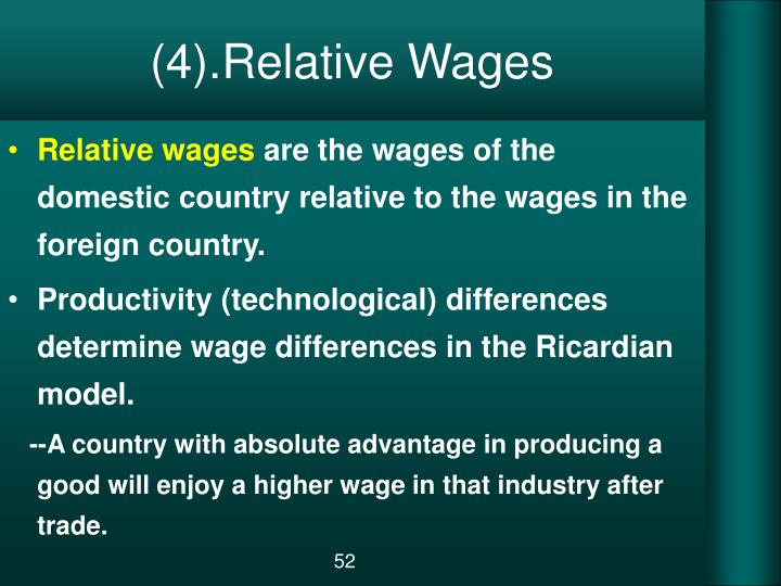 (4).Relative Wages