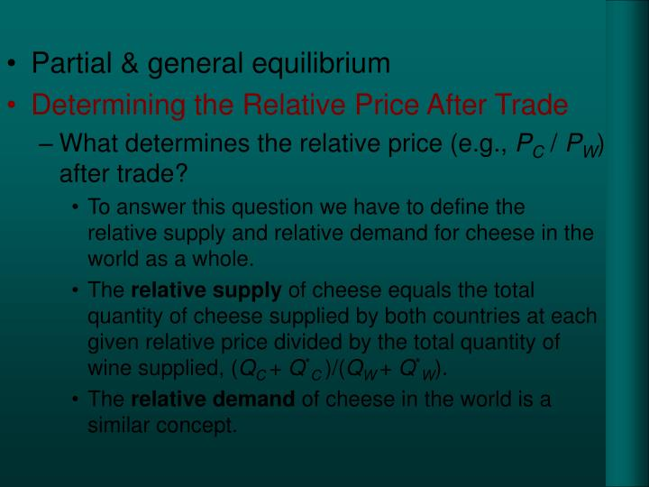 Partial & general equilibrium