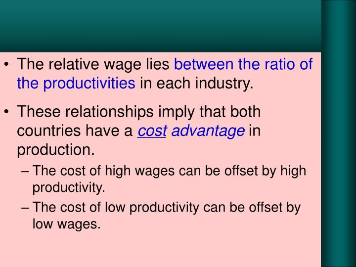 The relative wage lies