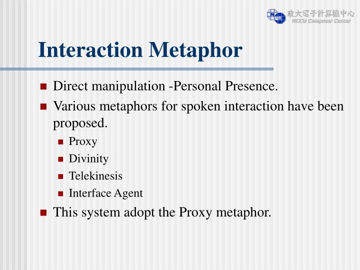Interaction Metaphor