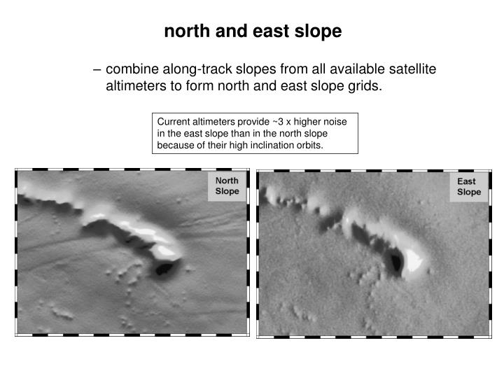combine along-track slopes from all available satellite altimeters to form north and east slope grids.