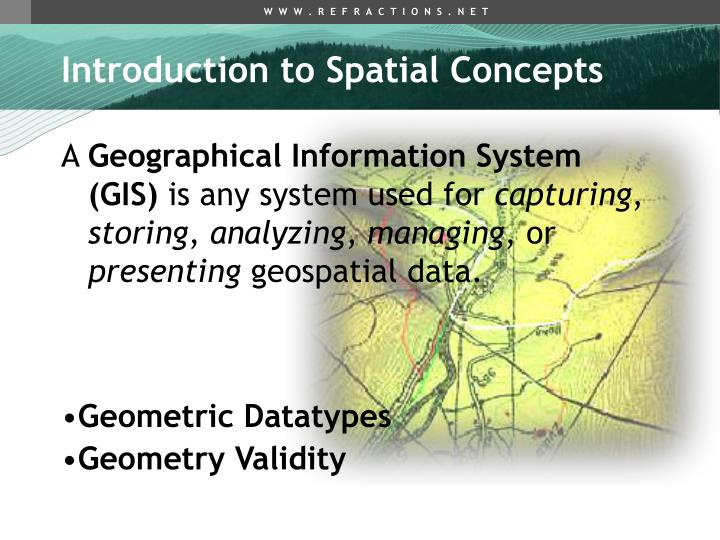 Introduction to Spatial Concepts