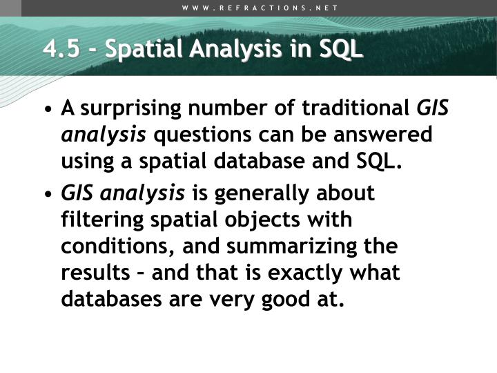 4.5 - Spatial Analysis in SQL