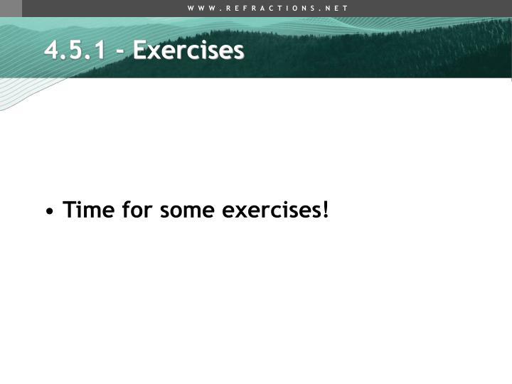 4.5.1 - Exercises