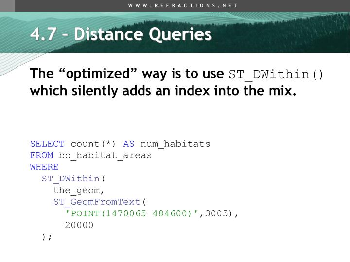 4.7 – Distance Queries