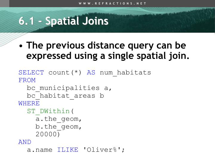 6.1 - Spatial Joins