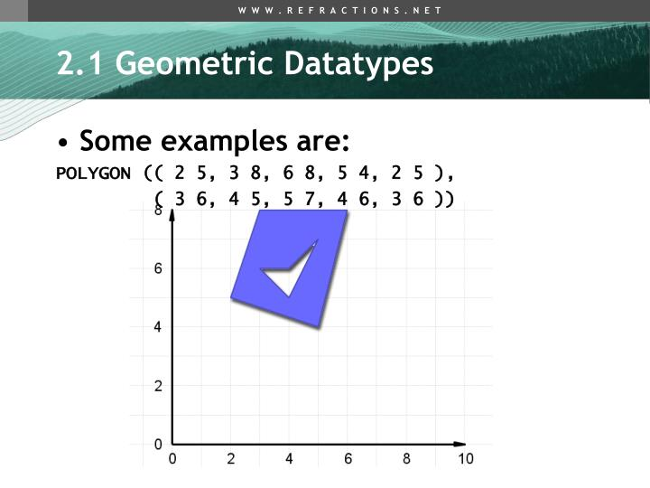 2.1 Geometric Datatypes