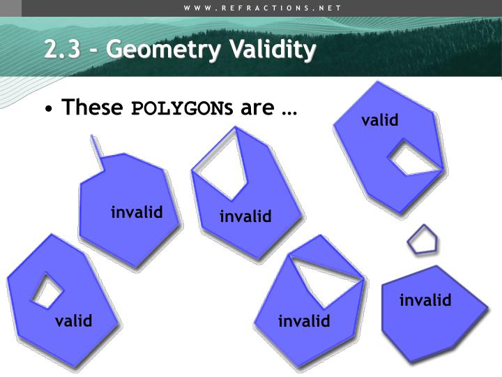 2.3 - Geometry Validity