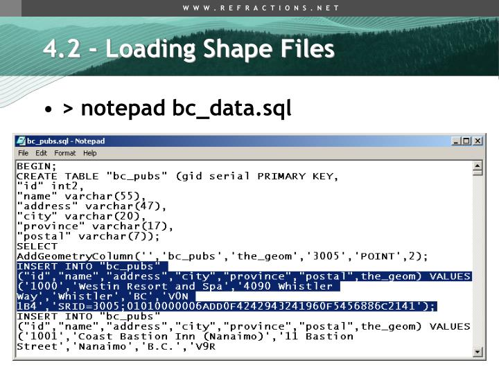 4.2 - Loading Shape Files