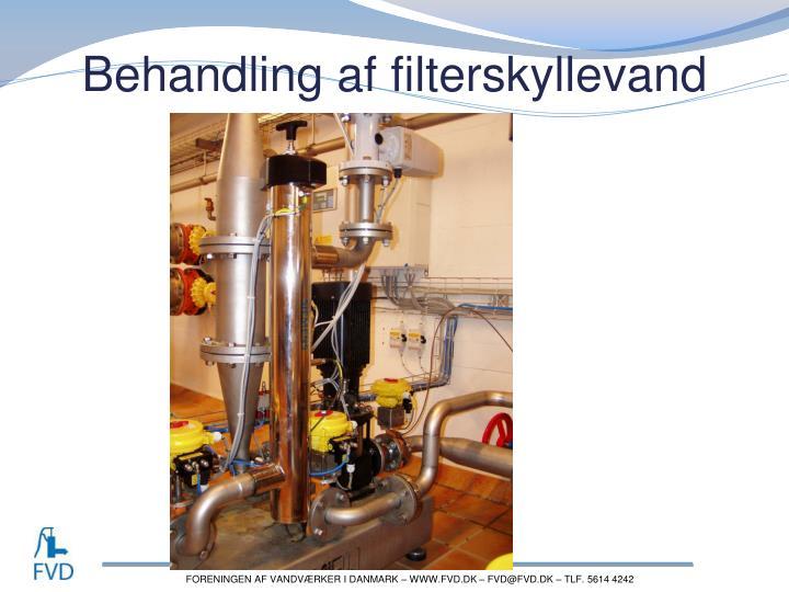 Behandling af filterskyllevand