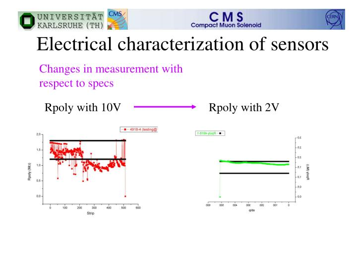 Electrical characterization of sensors