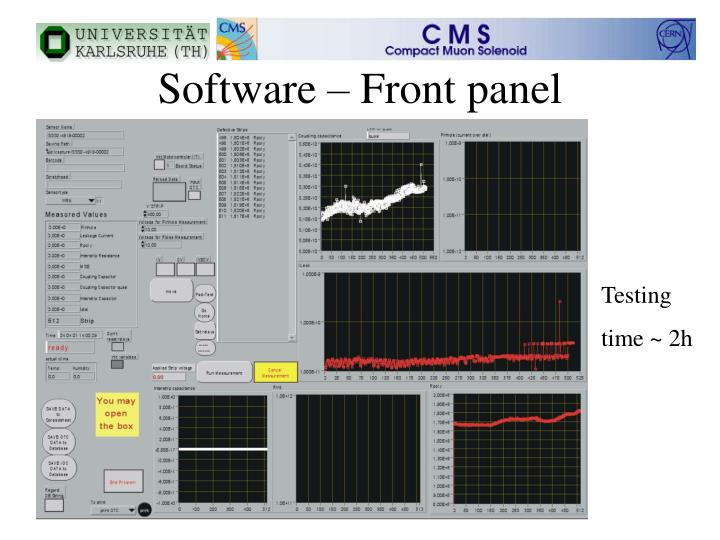 Software – Front panel