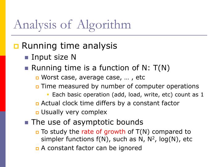 Analysis of Algorithm